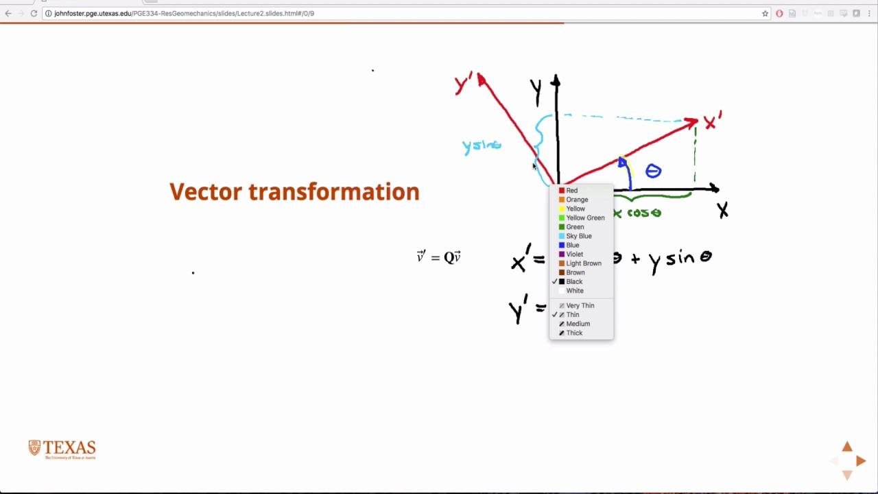 Vector and matrix transformations