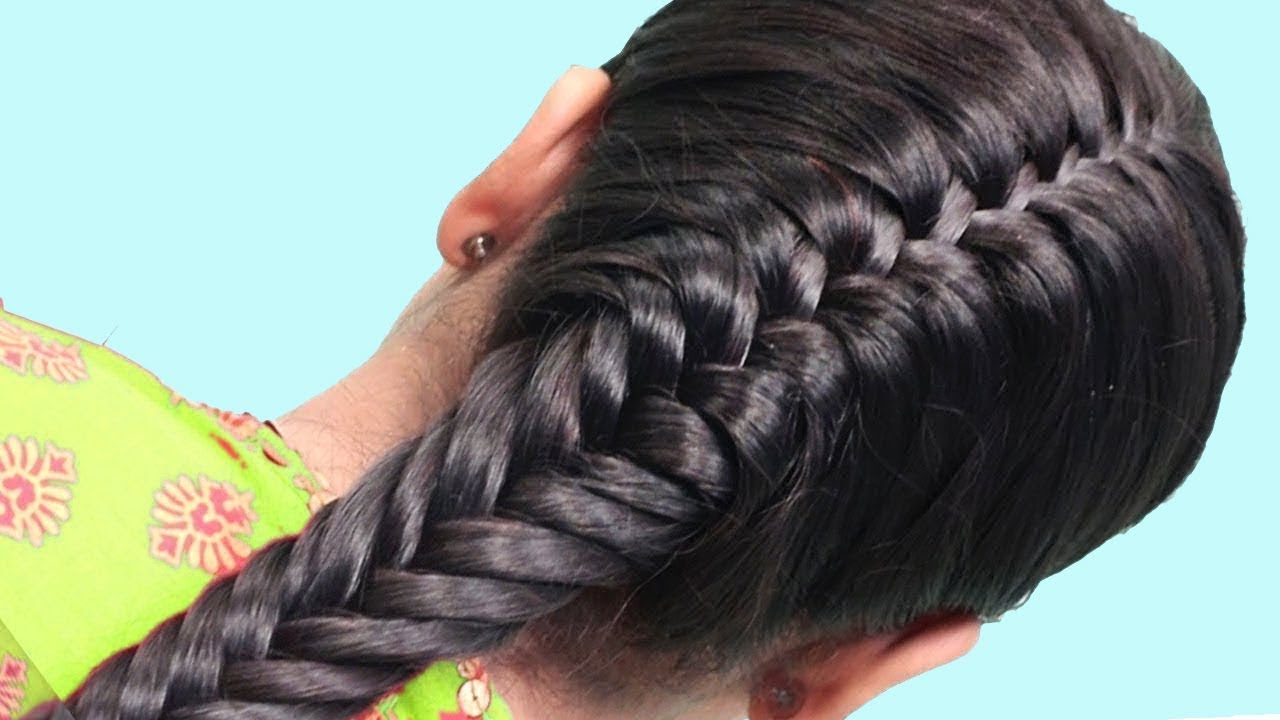How To Do Side French Braid Hairstyle Tutorial 2019 Easy Hairstyle For Long Hair 2019 Youtube