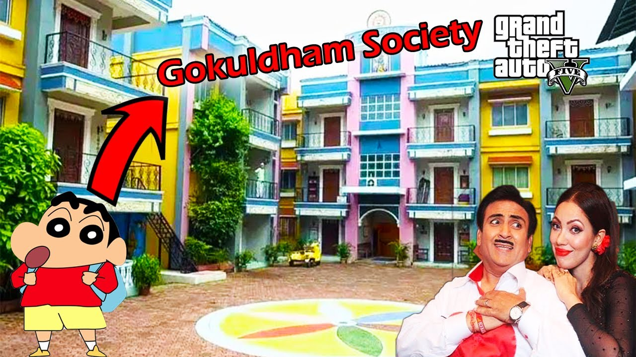 Find GOKULDHAM SOCITY in GTA 5 || SHINCHAN & FRANKLIN stealing Jethalal SuperCars GTA V