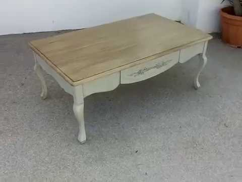 "Gut bekannt Table Basse ""Provence"" 100% chêne massif patiné (grand modèle  NV27"
