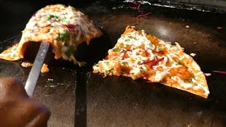 How to Make Pizza Dosai Recipe | Pizza Dosa Recipe  | STREET FOODS 2017