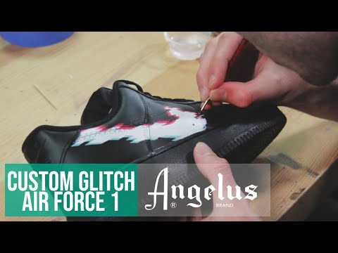 Custom Nike Air Force 1 Glitch | Angelus Paint