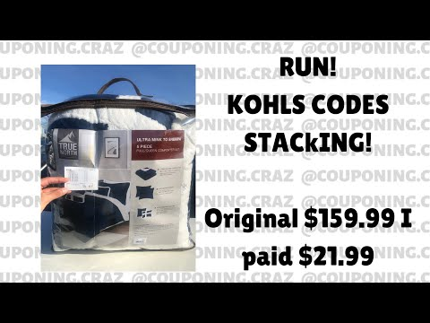RUNN! Kohl's Coupons Stacking!!