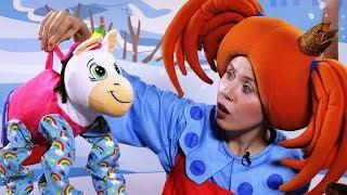 Поиграйка - Игрушки ПРУЖИНОЖКИ и Царевна - Видео с игрушками для детей -