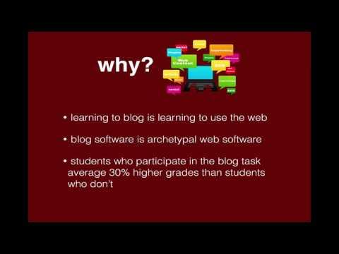 Digital Media Technologies - Blogging