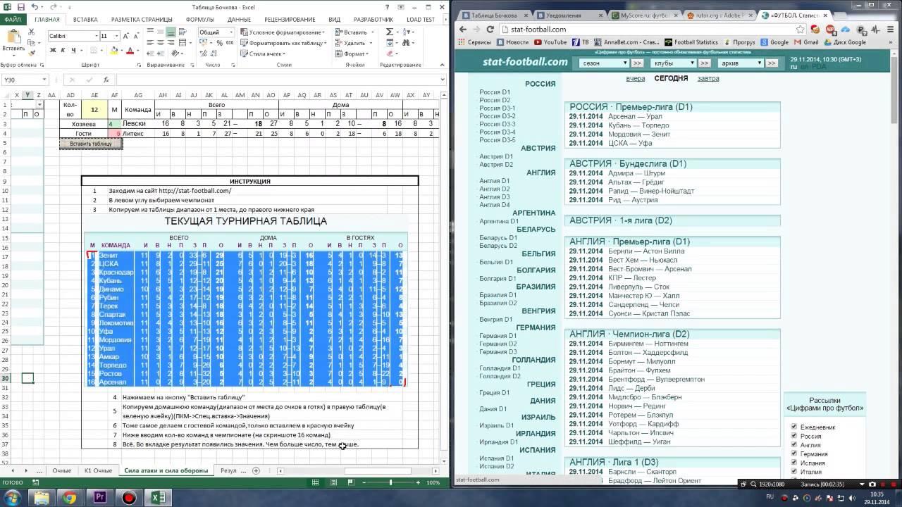 Спорт для ставок статистики таблица на super ведения