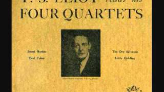 T S Eliot reads his Four Quartets