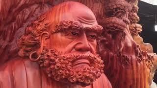 Tượng gỗ Đạt Ma Sư tổ giá 1,5 tỷ đồng đại gia mua trang trí nhà chơi Tết