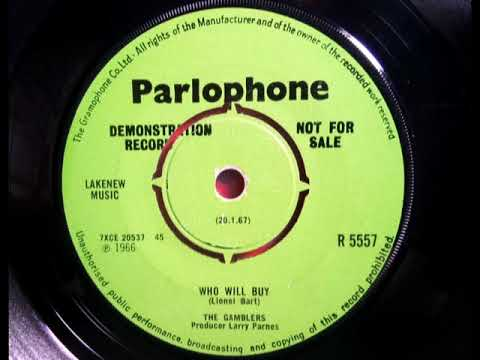 THE GAMBLERS - Who Will Buy - PARLOPHONE R 5557 - UK 1967 Mod Psych Beat Dancer