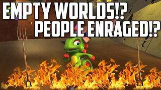 Yooka-Laylee has Empty Worlds!? No NPC's to Encounter!? Few Enemies!? TIME TO PANIC!