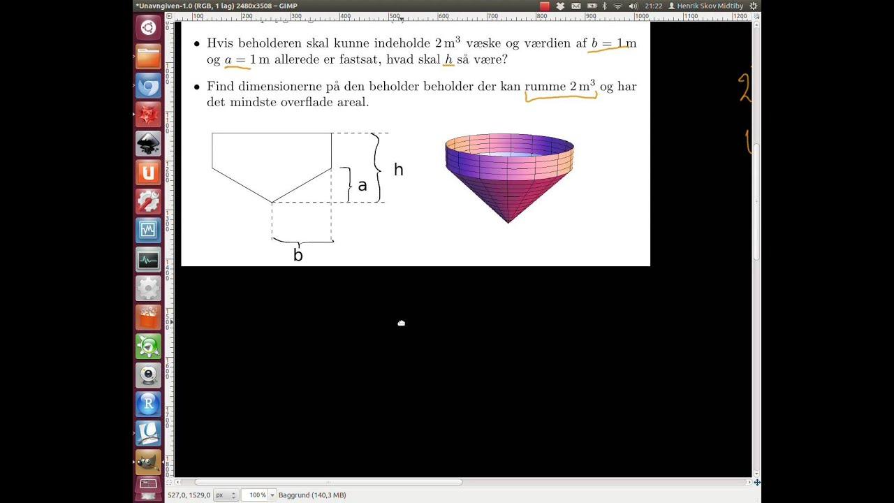 2013-01-04 Opgave 3. Design af beholder