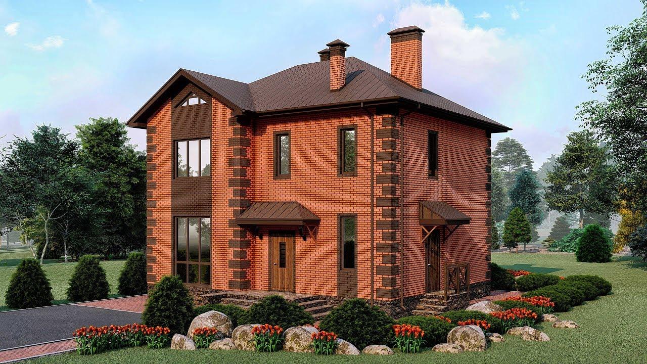 проект домов из кирпича двухэтажные фото для