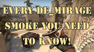 Every de_mirage smoke you need to know.