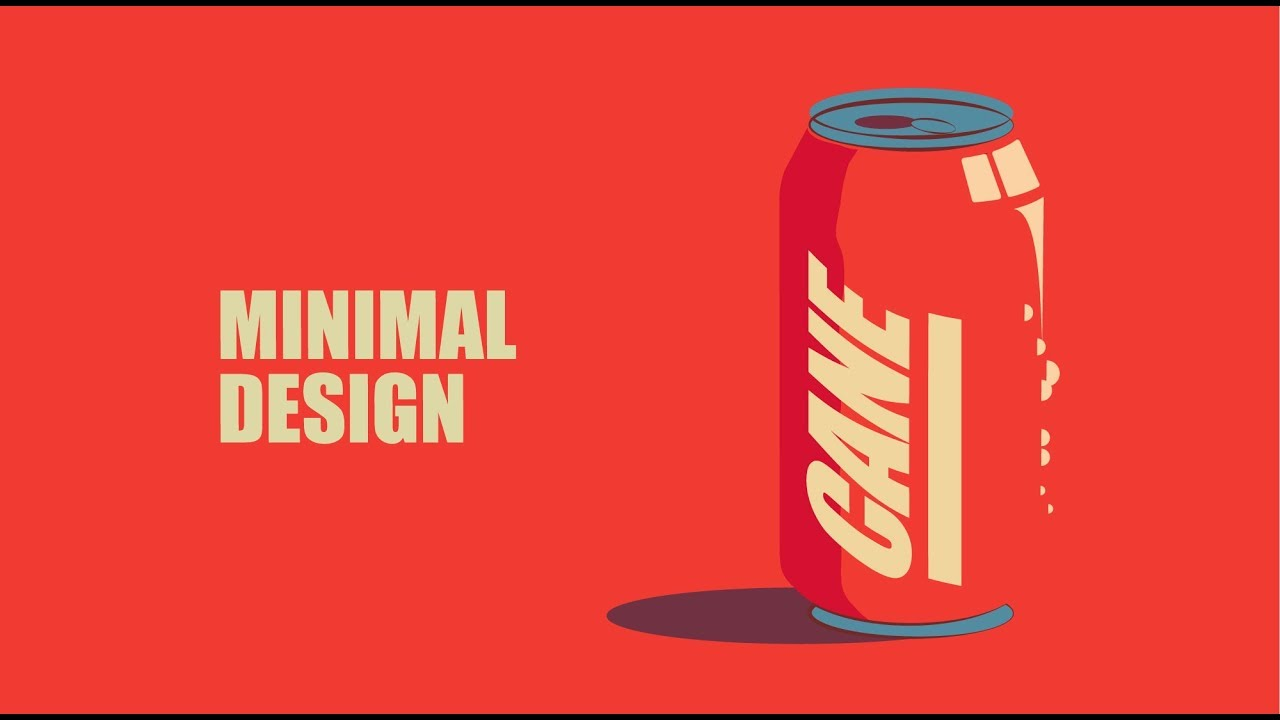 Minimalist Can Design | Adobe Illustrator