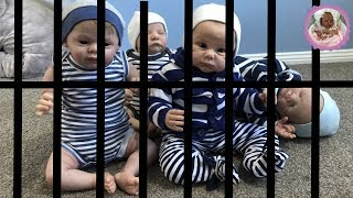 **HELP!!** OUR REBORNS ARE IN JAIL!  (THEME THURSDAY - STRIPES)