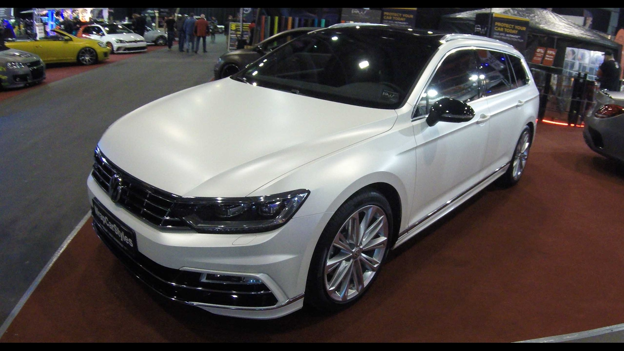 vw passat variant r line new model white and matte. Black Bedroom Furniture Sets. Home Design Ideas