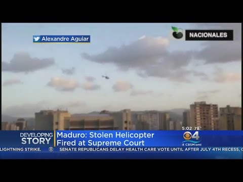 Helicopter Fires On Venezuelan Supreme Court Building