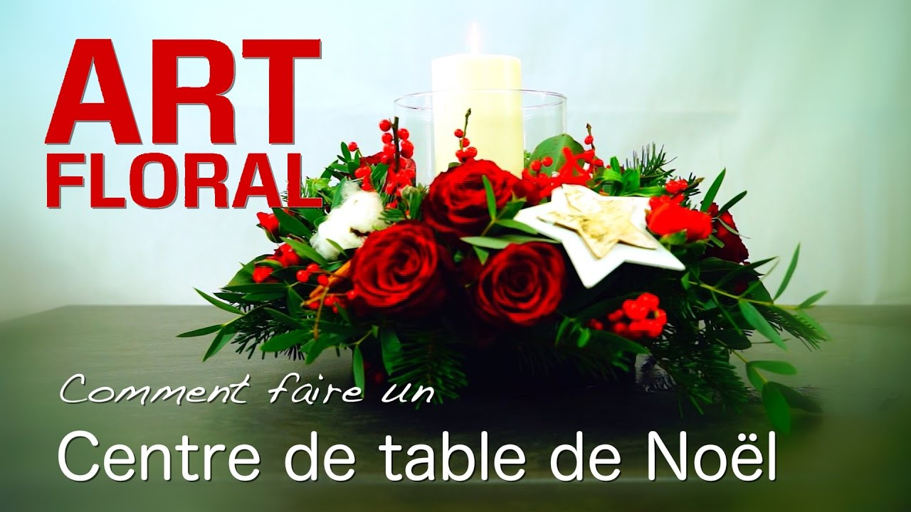 Gut gemocht CENTRE DE TABLE NOEL - YouTube GE65