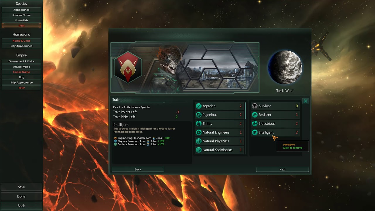 Stellaris Custom Civilizations - Geomant Acendancy (Tomb World Purifiers)