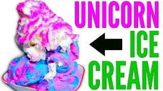 UNICORN ICE CREAM DIY - Starbucks FRAPPUCCINO Remake How To