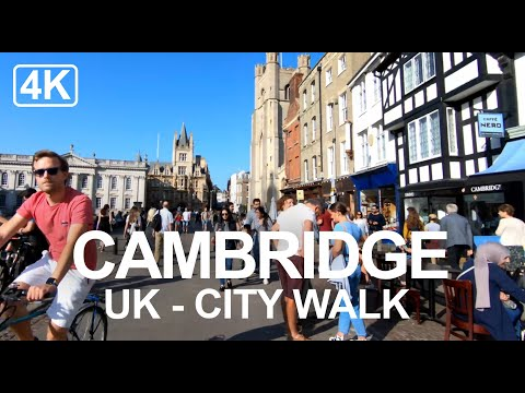 [4K] Exploring Cambridge, England (2020) A Walk Through This Historic University City (Captions)