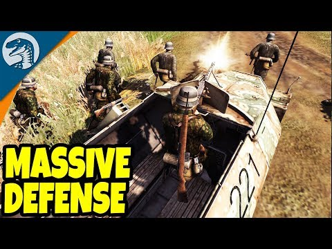 PORT DEFENSE LINE, BIG ATTACK AMBUSH  Men of War: Assault Squad 2 Gameplay
