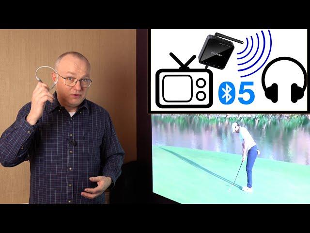 TV Audio to Headphones Transmitter lag test (QUICK-VID)