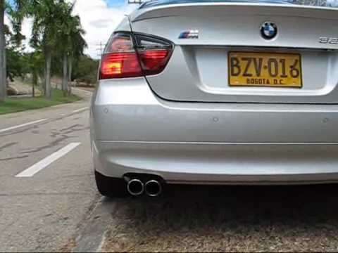 bmw 325i e90 07 stock exhaust youtube. Black Bedroom Furniture Sets. Home Design Ideas