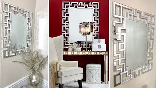 ZGALLERIE Inspired Wall Mirror Using DOLLAR TREE Wood Blocks ~ D.I.Y. Home Decor