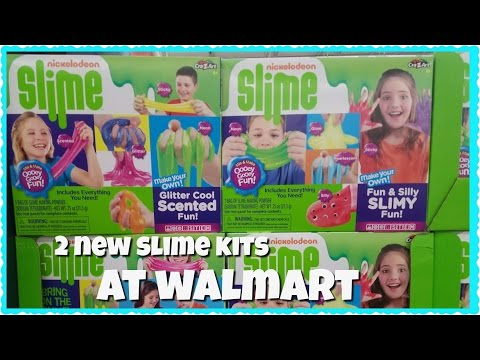 NEW NICKELODEN SLIME KITS AND GALLONS OF GLUE AT WALMART