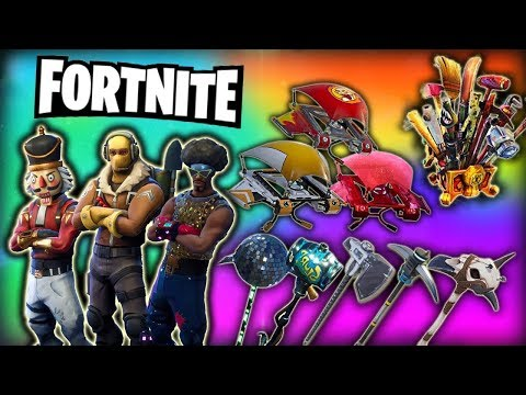 Fortnite - All Cosmetic Items V2 *NEW* 3 Seasons ft: Costumes,Skins,Gliders,Pickaxes