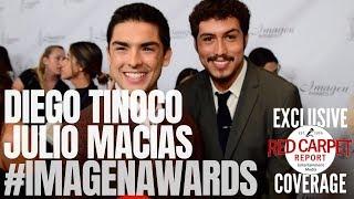 Diego Tinoco & Julio Macias #OnMyBlock interviewed at 2019 Imagen Awards Red Carpet