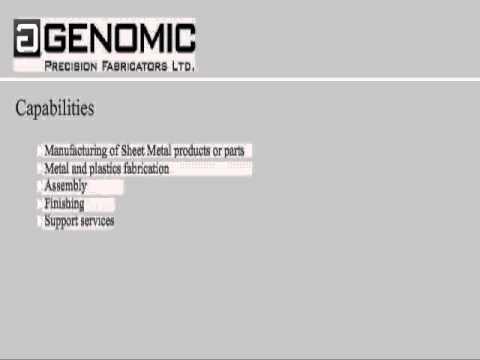 Genomic Precision Fabricators Ltd. Toronto CA Sheet Metal, Machining, Assembly