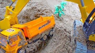 덤프 트럭 구출놀이 중장비 자동차 장난감 모래놀이 Dump Truck Rescue Car Toy for Kids