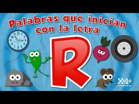 Words that start with the letter r for children in Spanish - Videos Aprende
