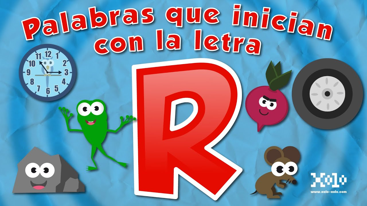 words that start with the letter r for children in spanish videos aprende