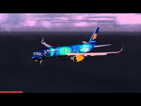 Boston Reykjavik flight, Icelandair B757-200 Hekla Aurora