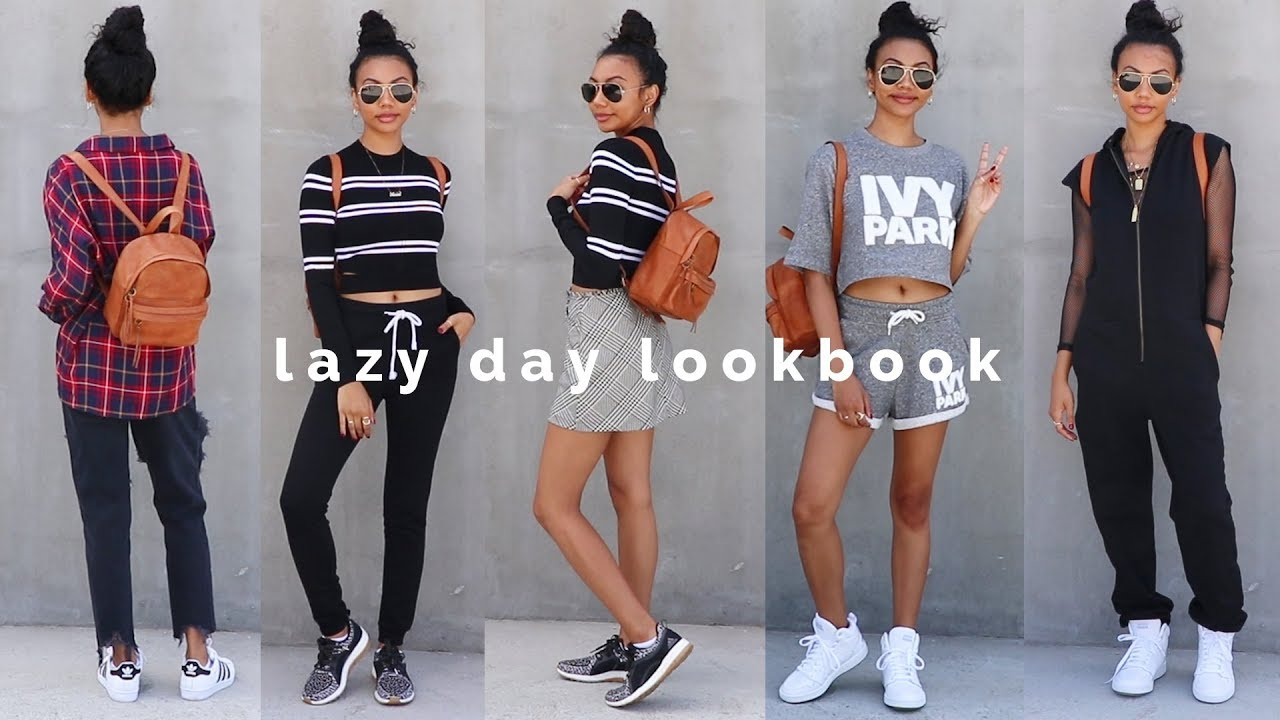 CUTE COLLEGE OUTFITS FOR LAZY PEOPLE LOL - YouTube