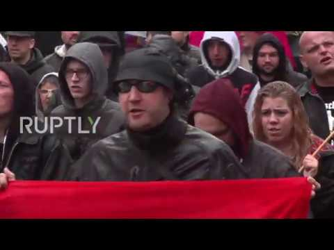 Germany: Right-wing extremists march against 'king' Merkel in Dortmund