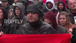 Video Germany: Right-wing extremists march against 'king' Merkel in Dortmund download MP3, 3GP, MP4, WEBM, AVI, FLV Desember 2017