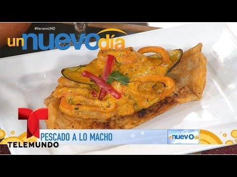 Recetas De Cocina Como Hacer Pescado A Lo Macho Un Nuevo Dia Telemundo Youtube