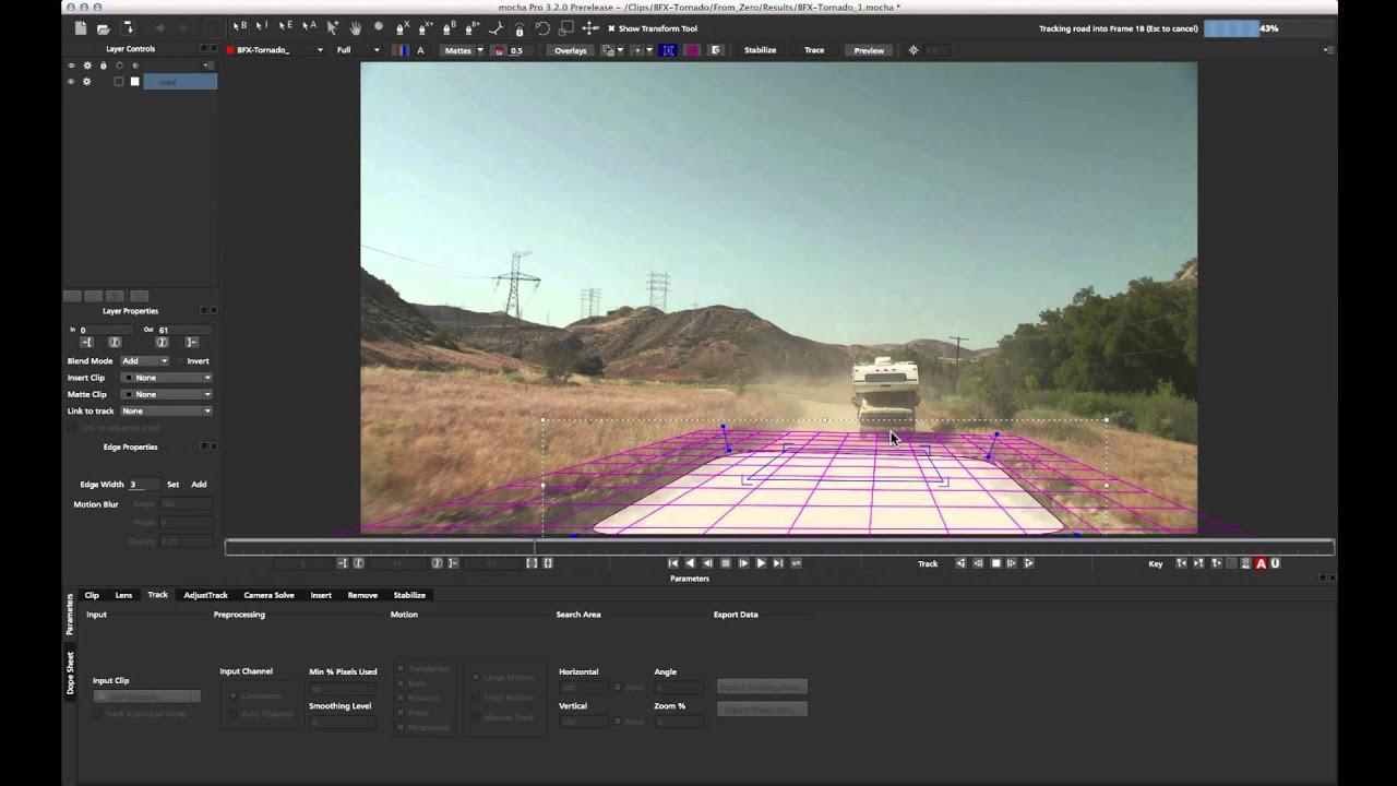 Mocha Pro Tutorial: 3D Camera Solver and Nuke Pt. 1