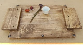 How To Turn New Wood Into A Vintage Tray • Shighileedi