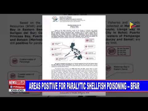 NEWS BREAK: Areas Positive For Paralytic Shellfish Poisoning - BFAR