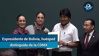 Evo Morales, huésped distinguido de la CDMX