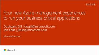 Four new Azure management experiences to run your business critical applications