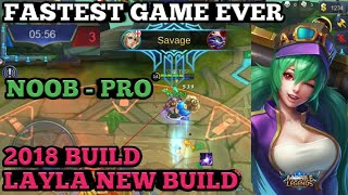 LAYLA SAVAGE BUILD | FASTEST GAME EVER | ULTRA FAST GUIDE