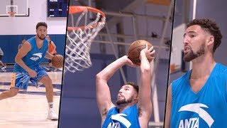 In this video nba trainer jordan lawley puts klay thompson of the golden state warriors through a workout! watch to get look into what an wo...
