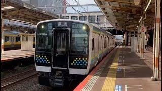 E131系回送 津田沼到着〜発車