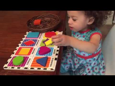 Teaching a 1 year old Shapes! Learning Shapes Preschool ...